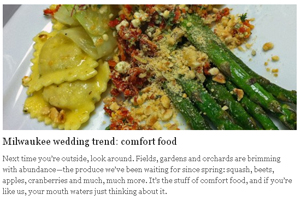 Milwaukee wedding trend: comfort food