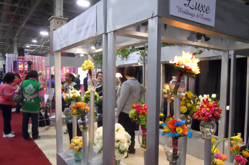 Lockers Florist's Booth at the Wonderful World of Weddings