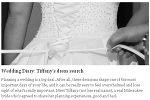 Wedding Diary: Tiffany's dress search