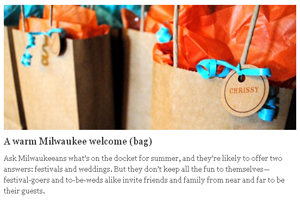 A warm Milwaukee welcome (bag)