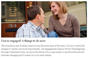 You're engaged! 6 things to do now