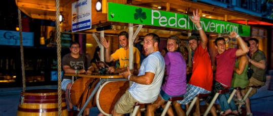 Milwaukee bachelorette party: Pedal Tavern