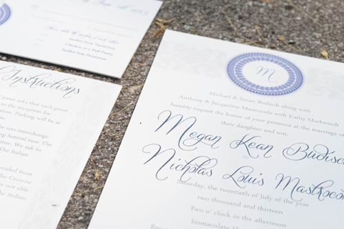 Milwaukee wedding invitations by Do Me a Favor.