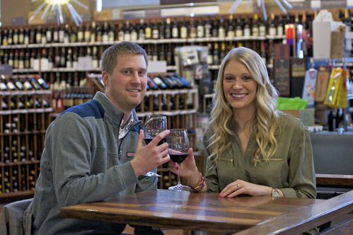 Milwaukee engagement photography at the Milwaukee Public Market.