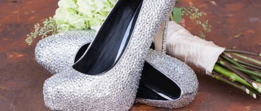 Swarovski crystal wedding shoes, jewelry & more
