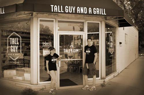 Tall Guy and a Grill catering on Wed in Milwaukee.