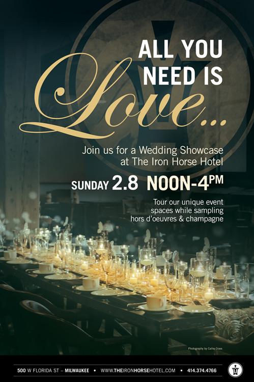 Iron Horse Hotel wedding showcase on Wed in Milwaukee.
