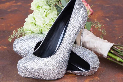 Wedding shoes by Kara Marie on Wed in Milwaukee.