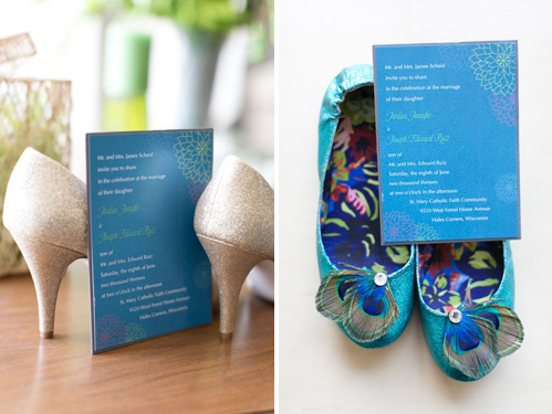 Wedding shoes by Heather Cook Elliot Photography on Wed in Milwaukee.