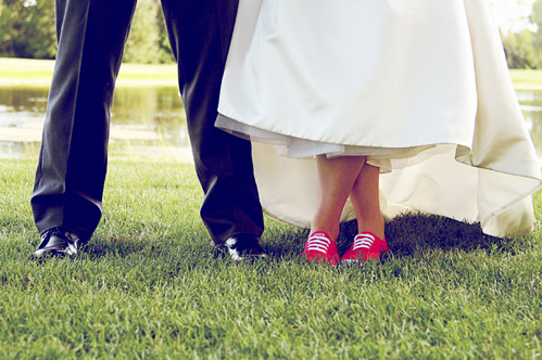 Wedding shoes by McKenna Marie Photography on Wed in Milwaukee.