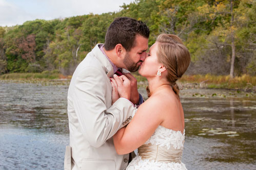 Wedding first look by George Street Photography on Wed in Milwaukee.