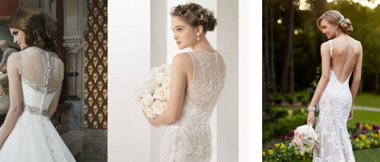 3 wedding dress backs to swoon over