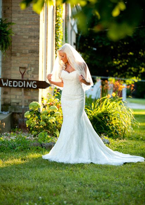 Alysa Hutton wearing Stella York 5840 with Bel Aire Bridal V7112 veil