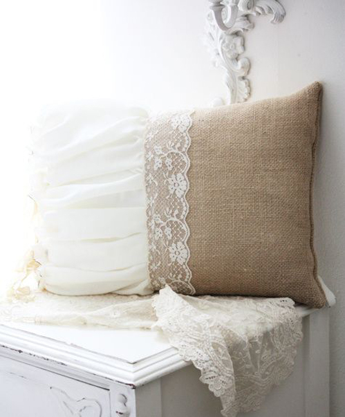 Throw pillows a lace dress is a great fabric for making a set of