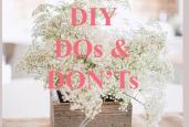 8 wedding DIY do's and don'ts