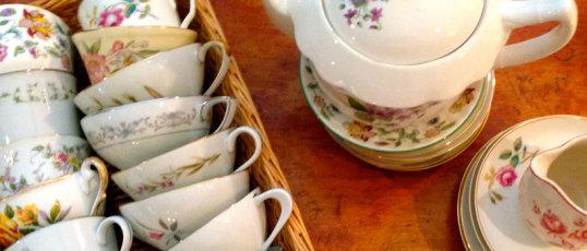 Eclectic vintage tableware rental