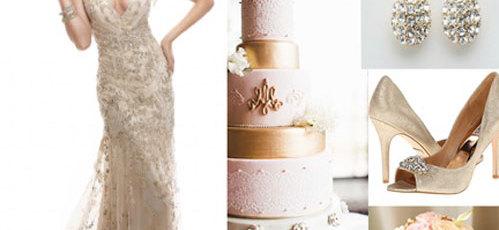 Wedding color palette: Gold